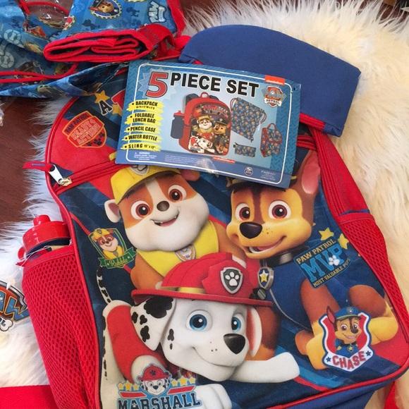 5a8d9e425a Paw Patrol 5-piece backpack set